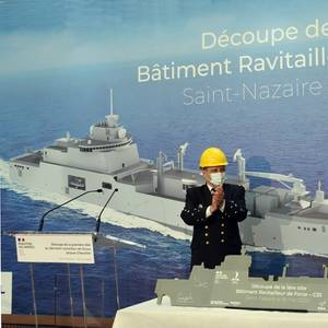 Construction Begins on French Navy's New Replenishment Ship