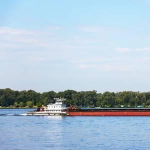 Cargo Being Delivered Despite Low Water on Rhine