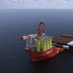 Liebherr Ships First Main Crane Components for OHT's Alfa Lift Installation Vessel