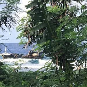 Fire-stricken Fishing Vessel Grounds in the Samoan Islands