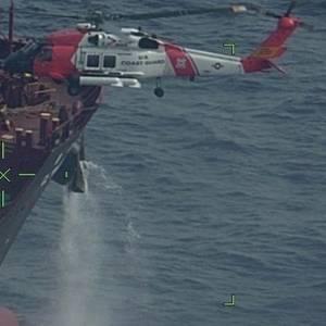 VIDEO: Coast Guard Medevacs Mariner from Tanker Off North Carolina