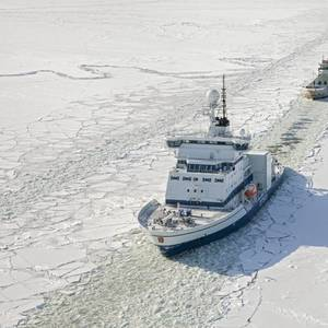 Season's First Icebreaker Deployed in Finland