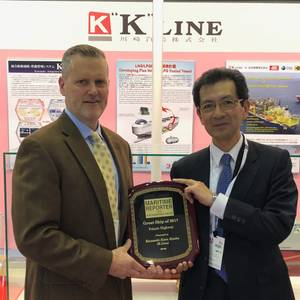 K Line Accepts Great Ships of 2017 Award