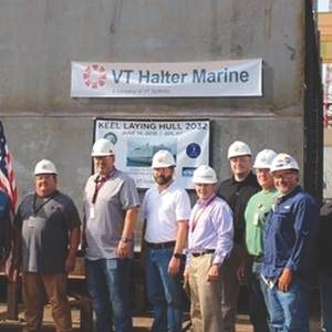VT Halter Commences Construction of USN Berthing Vessels