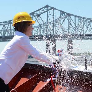 Crowley Christens Third LNG-ready Product Tanker