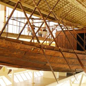 An Ancient Egyptian Boat Is on the Move