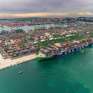 CMA CGM's New LNG Flagship Takes on Record Container Load