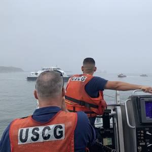 Ferry Runs Aground in Boston Harbor