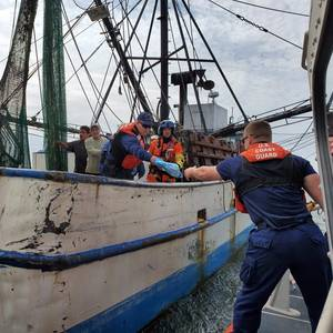 Fishing Vessel Crewman Rescued Near Texas