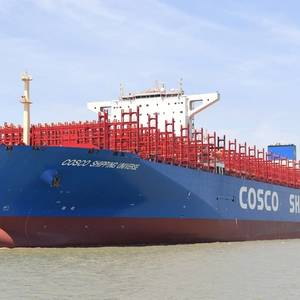 Mega Containership Equipped with ABB Turbochargers