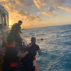 USCG Rescues 2 From Sinking Vessel near Key Largo