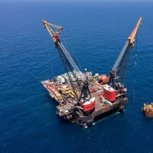 PHOTO: Heerema's Balder Vessel Removes Morpeth Platform in Gulf of Mexico