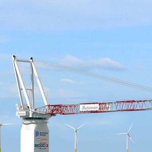 Huisman Crane for First Jones Act Wind Turbine Installation Vessel