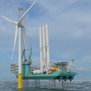 VIDEO: Huisman's Crane for OIM Wind's Offshore Wind Installation Vessel