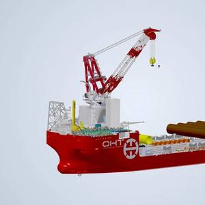 OHT's Offshore Wind Vessel to Feature Kongsberg Pile Gripper Guidance System