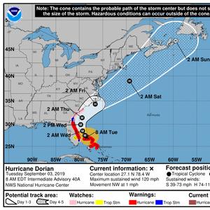 NOAA's NHC: The Latest on Hurricane Dorian