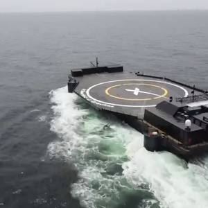 VIDEO: Elon Musk Shows Off SpaceX Droneship