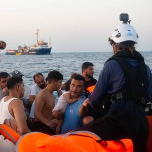 German NGO Sea-Watch Rescues 100 Migrants in Mediterranean Sea