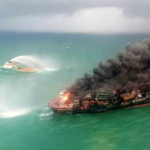 Fire-hit Cargo Ship Loaded with Chemicals Sinks Off Sri Lanka