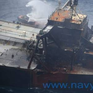 Sri Lanka: Fire-hit Tanker Towed Further Offshore as Wind Picks Up