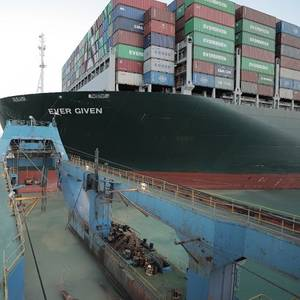 Giant Ship Blocking Suez Canal Partially Refloated