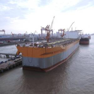 PHOTO: SWS Shipyard Launches FPSO Prosperity Hull