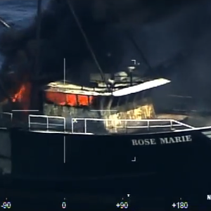 Four Rescued from Fishing Vessel Blaze off US East Coast