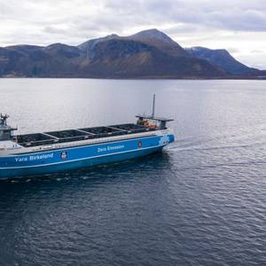Vard Delivers World's First Electric & Autonomous Container Ship to Yara