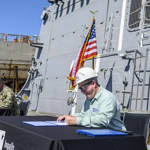 Ingalls Delivers Destroyer Delbert D. Black