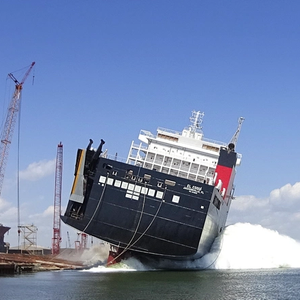 Jones Act LNG-powered ConRo Ship Launched