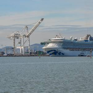 Three Cruise Ships Dock in Oakland