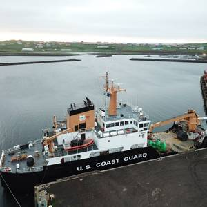Coast Guard Vessel Spills Oil in Womens Bay, Alaska