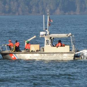 US Coast Guard Vessel Capsizes