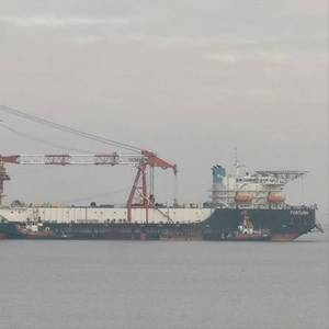Russian Pipelaying Vessels En Route to Nord Stream 2 Work Site