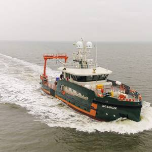 Geo Ranger Survey Vessel Passes Sea Trials