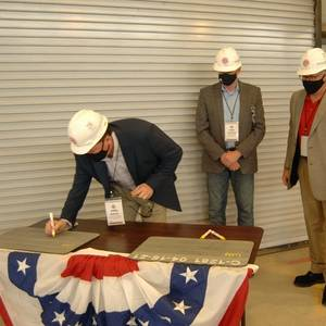 Conrad Lays Keel for Great Lakes' New Hopper Dredge