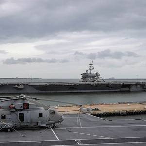 UK Aircraft Carrier Dodges Hurricane Florence