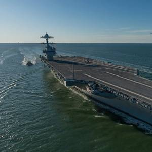 Future USS Gerald R. Ford Delivered