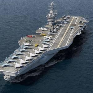 Iran Deploys Mock-up U.S. Aircraft Carrier for Target Practice