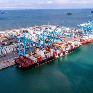 Mega Box Ship on Maiden Call at APM Costa Rica