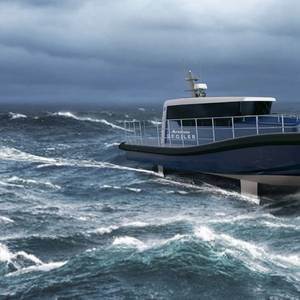 New Emissions-free Workboat Features Electric Propulsion, Hydrofoils