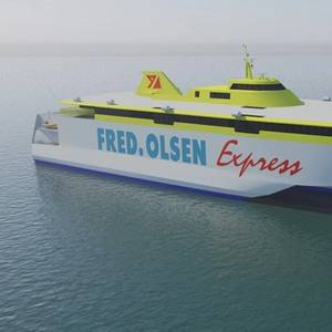 Austal Cuts Steel for Fred. Olsen Ferry