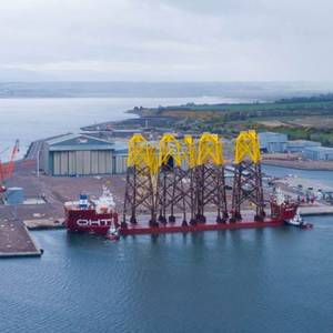 First Moray East Offshore Wind Farm Jackets Arrive in UK