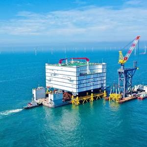 'World Largest' Offshore Converter Station Debuts in China