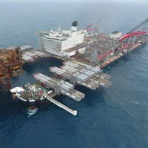 Photo: Allseas' Pioneering Spirit Removes Brent Alpha Platform