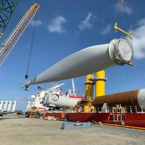 Coastal Virginia Offshore Wind Turbine Components En Route to U.S.