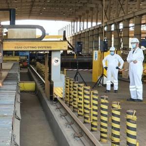 Drydocks World Cuts First Steel For Dutch Wind Farm Substation