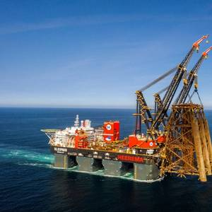 PHOTO:  Heerema Breaks Own Heavy-lift Record with Brent Alpha Jacket Removal