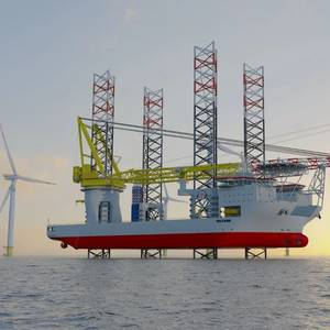 Largest Jack-Up to Install Largest Turbines at World's Largest Offshore Wind Farm