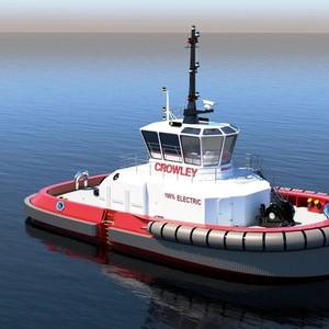 Crowley Designs US' First Fully Electric Autonomous Tug